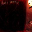 halloweens poster şablonu — Stok fotoğraf