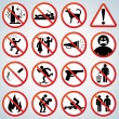 Fun Prohibited and Alerting Signs — Stock Photo