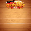 Oktoberfest Poster or Menu Template. - Stock Photo