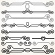 Rope Ornaments. Decorative Design Elements. — Stock Photo #26198297