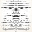Ornamental Rule Lines. Decorative Design Elements — Stock Photo