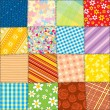 Stock Photo: Quilt Patchwork Texture. Seamless Pattern