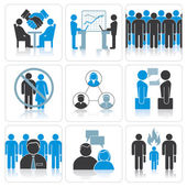 Human Resources and Management Icon Set. — Stock Photo
