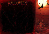 Halloweens Poster Template — Stock Photo