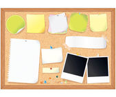 Cork Message Board with Blank Notes — Stock Photo