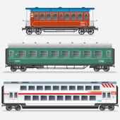 Passenger Railway Waggon, Railroad Passenger Car. — Stock Photo