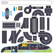 Modern Highway Map Toolkit. Set B — Stock Photo