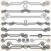 Rope Ornaments. Decorative Design Elements. — Stock Photo