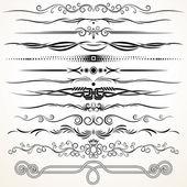 Ornamental Rule Lines. Decorative Design Elements — Stock Photo
