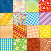 Quilt Patchwork Texture. Seamless Pattern — Stock Photo