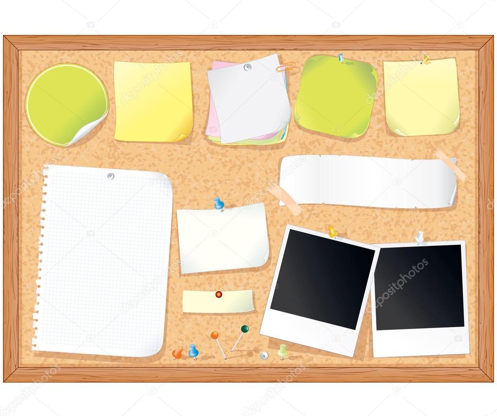 kork pinnwand mit leeren noten stockfoto pilart 26198133. Black Bedroom Furniture Sets. Home Design Ideas