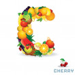 Stock Photo: Alphabet From Fruit. Letter C