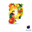Alphabet From Fruit. Letter P — Stock Photo