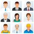 Collection of Occupations Icons — Lizenzfreies Foto