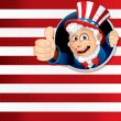 Uncle sam duim omhoog — Stockfoto