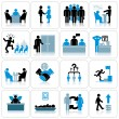 Stock Photo: Business Management and Human Resources Icon Set