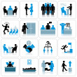 Business Management and Human Resources Icon Set — Stock Photo