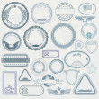 Stockfoto: Empty Template of Rubber Stamps