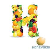 Alphabet From Fruit. Letter H — Stock Photo
