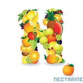 Alphabet From Fruit. Letter N — Stock Photo