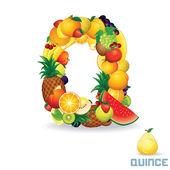Alphabet From Fruit. Letter Q — Stock Photo