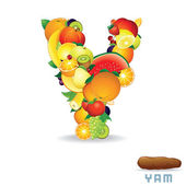 Alphabet From Fruit. Letter Y — Stock Photo