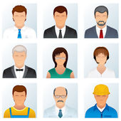 Collection of Occupations Icons — Stock Photo