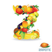 Alphabet From Fruit. Letter Z — Stock Photo
