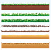 Ground Cutaway, Desert and Grass Elements. — Stock Photo