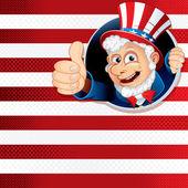 Uncle Sam Thumb Up — Stock Photo