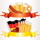 Oktoberfest Banners. Oktoberfest Illustrations — Stock Photo
