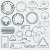 Empty Template of Rubber Stamps — Stock Photo