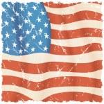 USA Flag Background. Grunge Illustration — Stock Photo