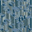Night City. Isometric Pattern Illustration — Stock Photo