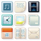 Square Menu Icons 2 — Stock Photo
