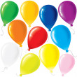 Flying Party Balloons — Stock Photo