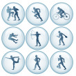 Stock Photo: Olympic Sport Icons Set 1