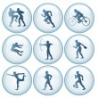 Olympic Sport Icons Set 1 — Stock Photo