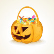 Stock Photo: Tricks or Treats Halloween Jack O Lantern
