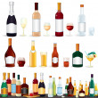 Alcohol Beverages Collection — Foto de Stock