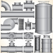 Industrial Pipeline Parts. — Stock Photo