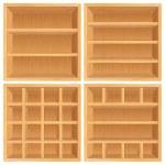 Set of Wooden Bookshelf, Cabinets. — Stock Photo #27256845