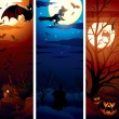 Vertical Halloween Banners — Stock Photo