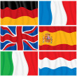 Set of Waving European Flags. — Stock Photo #27257221
