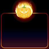Halloween Poster. Background with Jack O Lantern. — Stock Photo