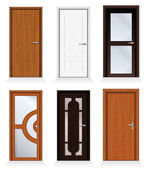 Classic Interior and Front Doors — Stock Photo