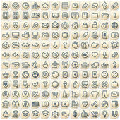 Set of 144 Paper Stickers with Web Icons — Stock Photo