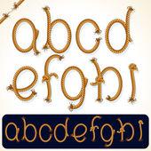 Rope Alphabet 1 — Stock Photo