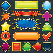 Colorful Design Element. Icon, Button Template — Stock Photo