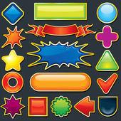 Colorful Design Element. Icon, Button Template — Stock Photo